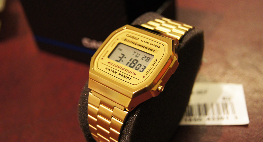 Casio in Gold (A168WG-9EF) im Detail