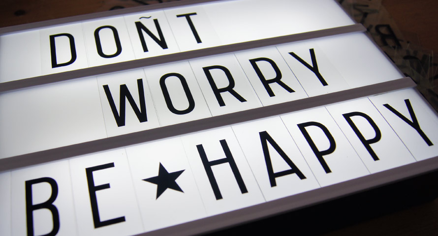 Dont worry be happy Lightbox