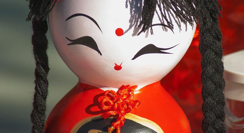 Kokeshi Puppen und Japanese Dolls