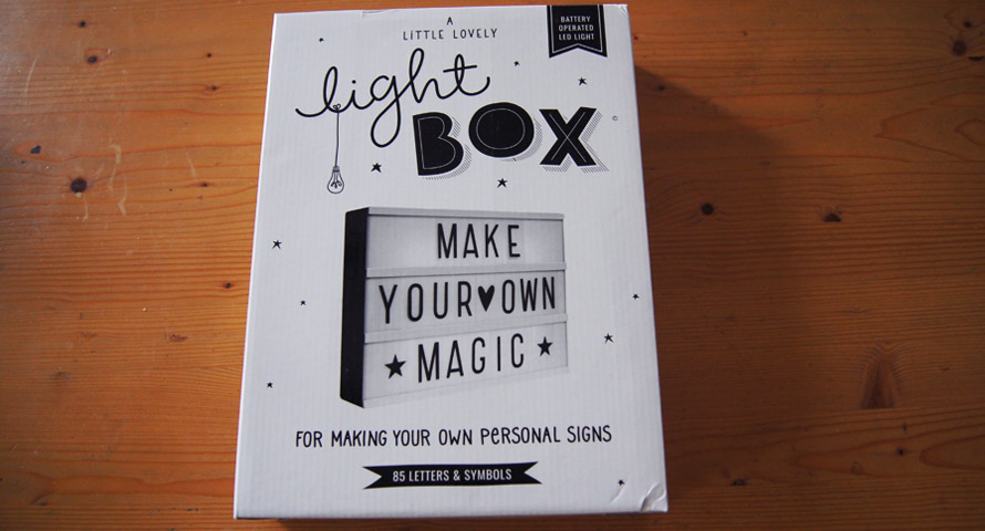Lightbox in Orginalverpackung (OVP)