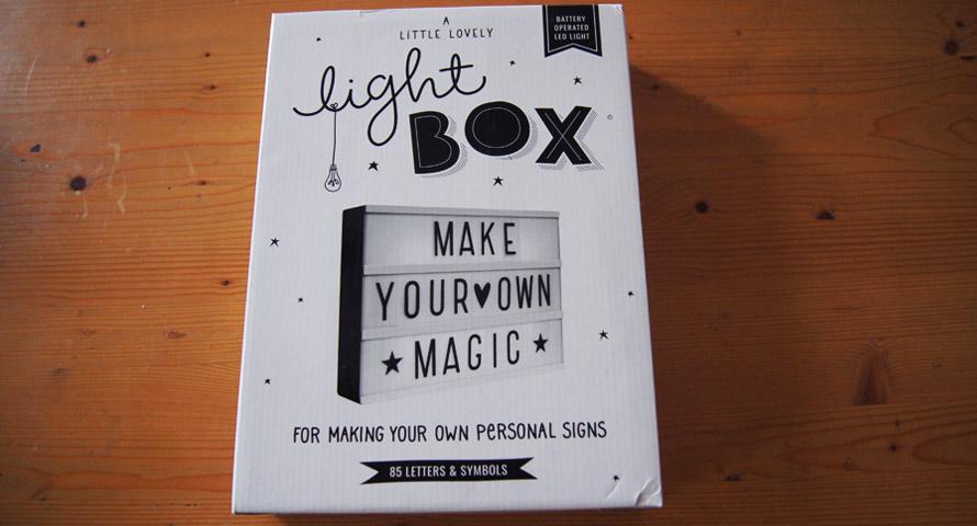 Lightbox in Orginalverpackung (OVP)