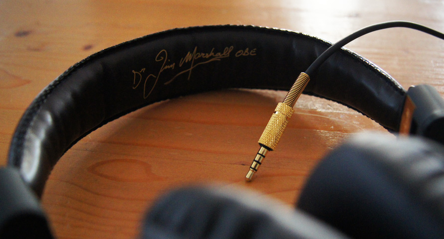 Klinkenstecker von den Marshall Headphones