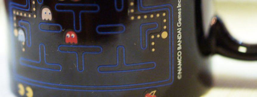 Pacman Kaffeebecher mit Thermoeffekt
