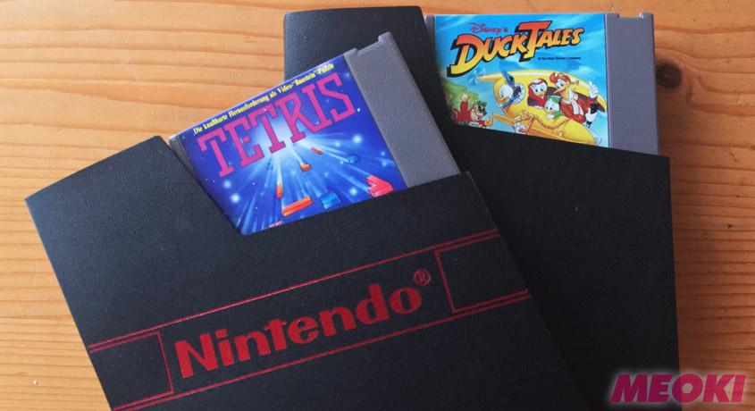 Original Nintendo Schuber mit Tetris & Duck Tales