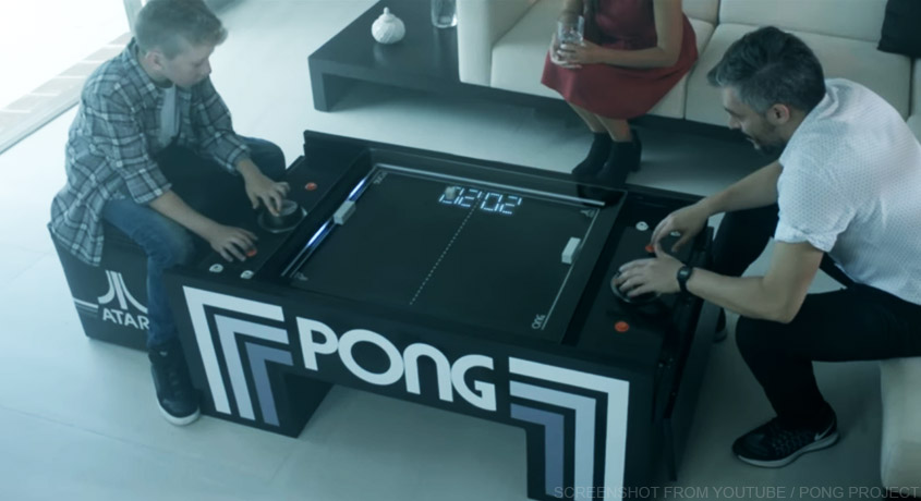 So hast Du Atari's Pong noch nie gespielt