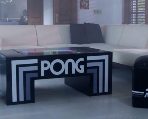 Pong-Tisch fürs Wohnzimmer - Retro im großen Stil