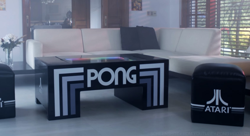 pong tisch f rs wohnzimmer retro im gro en stil. Black Bedroom Furniture Sets. Home Design Ideas
