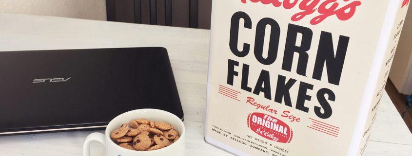 Retro-Blechdose von Kellogg's Corn Flakes