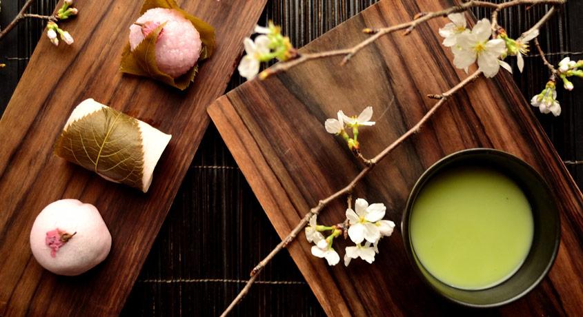 Leckere Wagashi zum Matcha Tee
