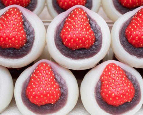 Japanische Süßigkeiten Wagashi