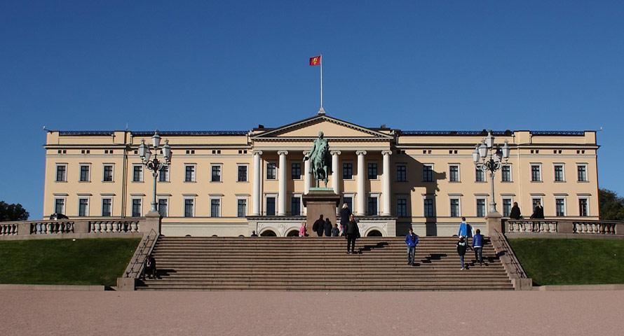 Das königliche Schloss von Oslo