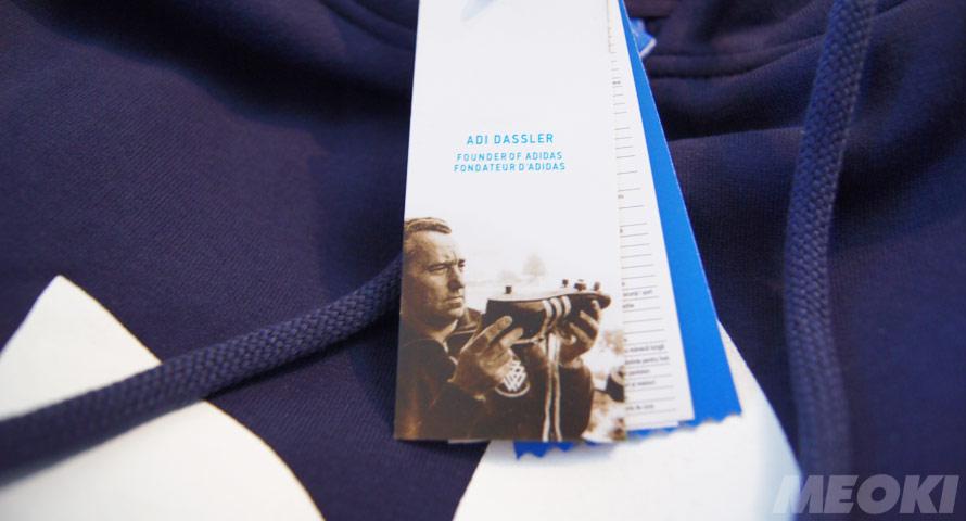 Adi Dassler Etikett am Original Pullover