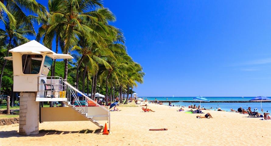Sandstrand auf Hawaii (Honolulu)