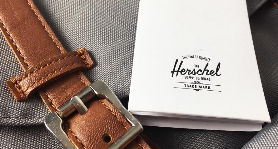 Detailaufnahme des Herschel Little America Rucksack