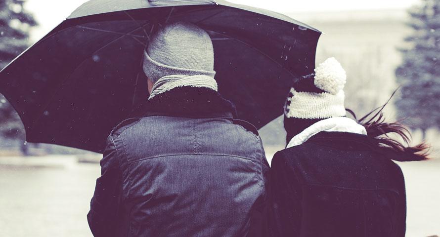 Zeit für den Regenschirm - Wettervorhersagen sind nicht immer zutreffend