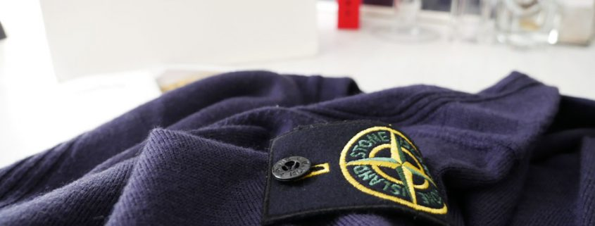 Stone Island Sweater in Blue with V-Neck Unboxing
