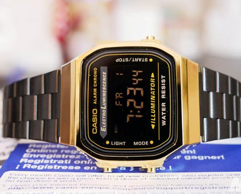 Casio Collection Gold (A168WEGB-1BEF) Unboxing